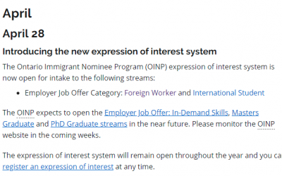安省省提名EOI系统出台,打分细则正式公布!
